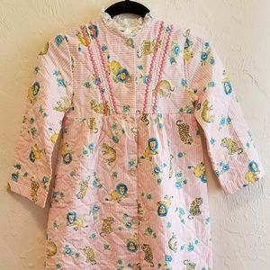 Vintage 60s Girls Quilted Bathrobe Dressing Gown 8
